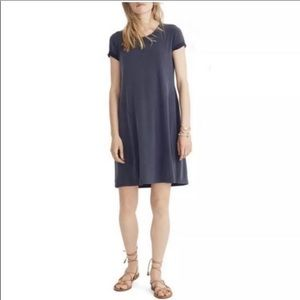 MADEWELL BLUE SAND WASHED SWINGY SHORT SLEEVES
